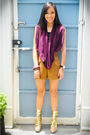 Purple-v-clothing-top-brown-shorts-gold-michael-antonio-shoes-purple-from-