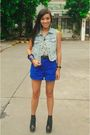 Blue-random-brand-vest-purple-poisonberry-top-blue-shorts-black-zara-belt-