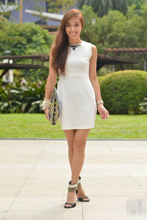 white apartment 8 dress