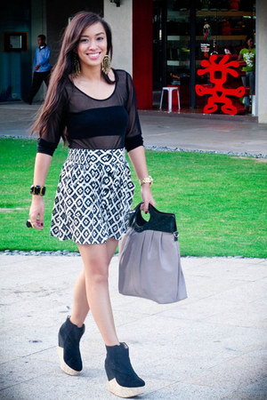 black Stylebreak top - black Forever 21 skirt - black Soule Phenomenon shoes - l