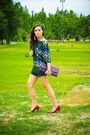 Black-bought-online-dress-black-zara-shorts-red-manels-shoes-purple-manels