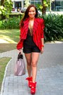 Red-blazer-black-shorts-red-topshop-shoes-gold-topshop-top-accessories