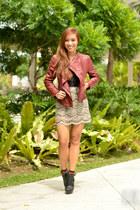 brick red Sheinsidecom blazer