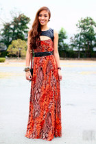 burnt orange StylistaPh dress