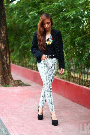 white Mango pants