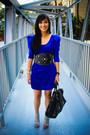 Blue-random-brand-dress-black-glitterati-belt-gray-bought-online-shoes-bla