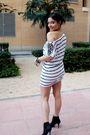 White-h-m-dress-black-zara-shoes