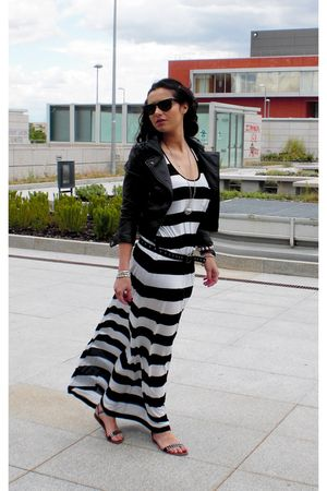 black H&M jacket - black H&M dress