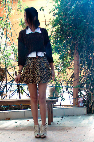 leopard romwe skirt - everything vintage accessories