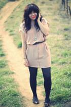 Button N Thread dress - Betsey Johnson tights - Blowfish flats