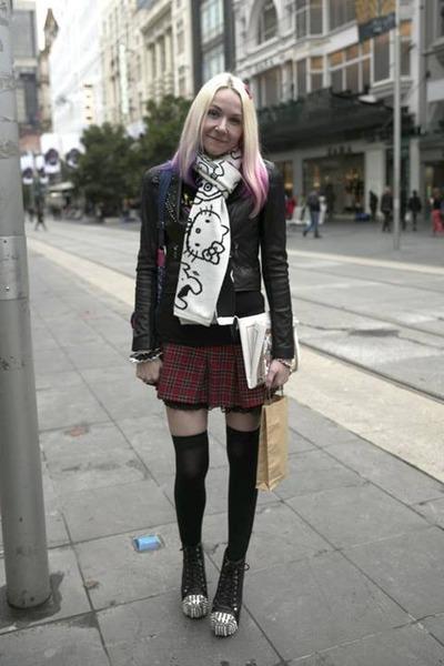 Forever 21 scarf - Jeffrey Campbell shoes - Forever New jacket - Momiji bag