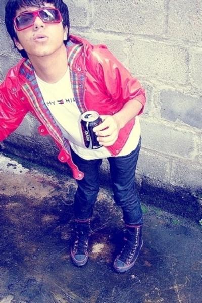 jacket - Tommy Hilfiger shirt - Tommy Hilfiger pants - Converse boots
