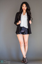 H&M blazer - Marshalls blouse - Marshalls wedges