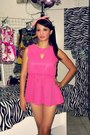 Hot-pink-thrifted-heels-bubble-gum-peplum-tagged-iloilo-dress