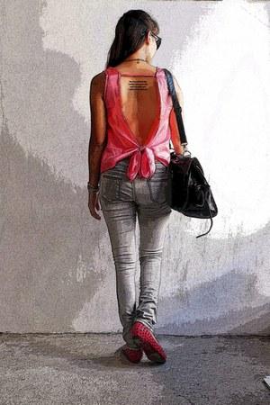 hot pink Break Ice Trend blouse