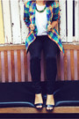 Black-sportsgirl-pants-blue-op-shopped-jacket-green-lovisa-necklace