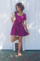 magenta May dress - hot pink Misano sandals