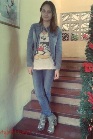 blue Lee jeans - blue Freeway jacket - white Zara shirt
