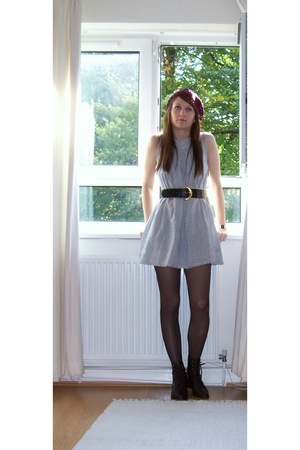 H&M hat - Forever21 dress - Primark tights - shoes
