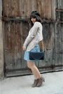 Blue-dkny-skirt-beige-sessun-top-beige-h-m-top-gold-primark-accessories