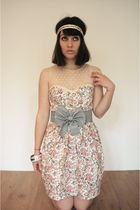 beige Primark dress - beige miss sugar cane accessories