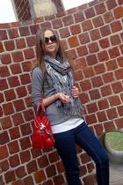 Topshop jeans - H&M scarf