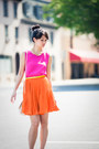 Yellow-neon-forever-21-belt-hot-pink-forever-21-dress-neutral-asos-bag