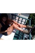 Nine West boots - free people bra - Michael Kors accessories
