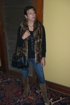 Zara vest - H&M shirt - Forever21 necklace - Forever21 purse - Newport News boot