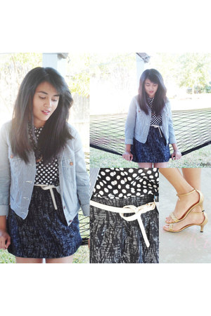 Levis jacket - Forever21 skirt - Aldo belt