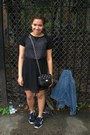 Black-h-m-dress-black-nike-sneakers