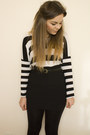Black-h-m-skirt-white-h-m-top-black-skinny-primark-belt