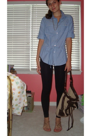 forever 21 shirt - le chateau leggings - Urban Outfitters shoes - Old Navy purse