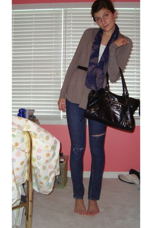 forever 21 sweater - scarf - purse