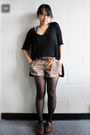 Dark-brown-target-shoes-black-h-m-shirt-black-h-m-tights-dark-brown-foreve