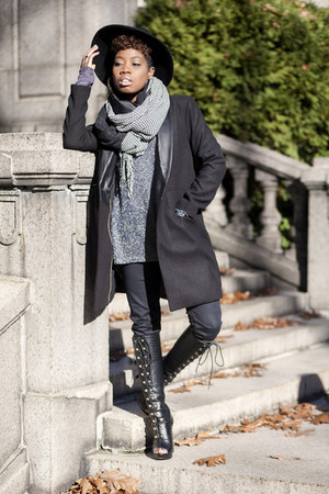 Shoe Dazzle boots - BB Dakota coat