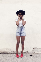 denim romper penelopes vintage romper - red booties Jenni Kayne boots
