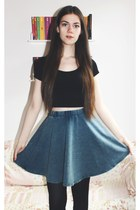 skater new look skirt - cropped new look t-shirt