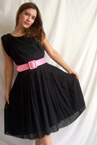 Perfect little black 50's dress.