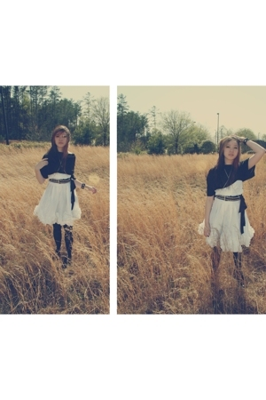 mai tai skirt - Daisy dress - George tights - DIY accessories