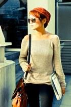 Terranova sweater - CMG bag - Mango sunglasses - random brand online heels - Pro