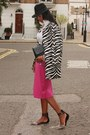 Hot-pink-asos-skirt-black-zebra-printed-zara-coat-fedora-h-m-hat