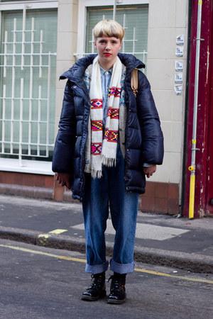 Zara coat - doc martens boots - Oxfam jeans