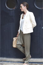 neutral floral print Primark shoes - neutral Mango blazer