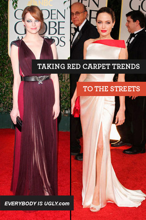Maroon-lanvin-dress-ivory-versace-dress