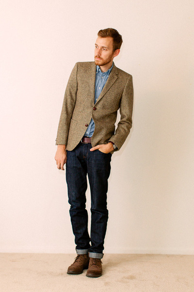1901 boots - Doctrine Denim jeans - H&amp;M blazer
