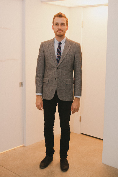 banana republic blazer - Zara shoes - Topman jeans - H&M shirt - J Crew tie