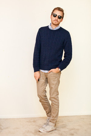Converse shoes - H&M jeans - Old Navy sweater - Club Monaco shirt