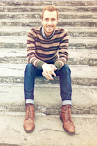 Topman boots - Doctrine Denim jeans - H&M sweater - Club Monaco shirt