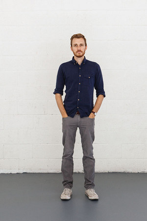 Converse shoes - J Crew shirt - J Crew pants